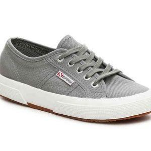 Superga Gray Canvas 2750 Cotu Classic Sneakers 37